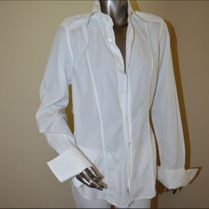 Authentic Gucci - White Button Down Fitted Shirt